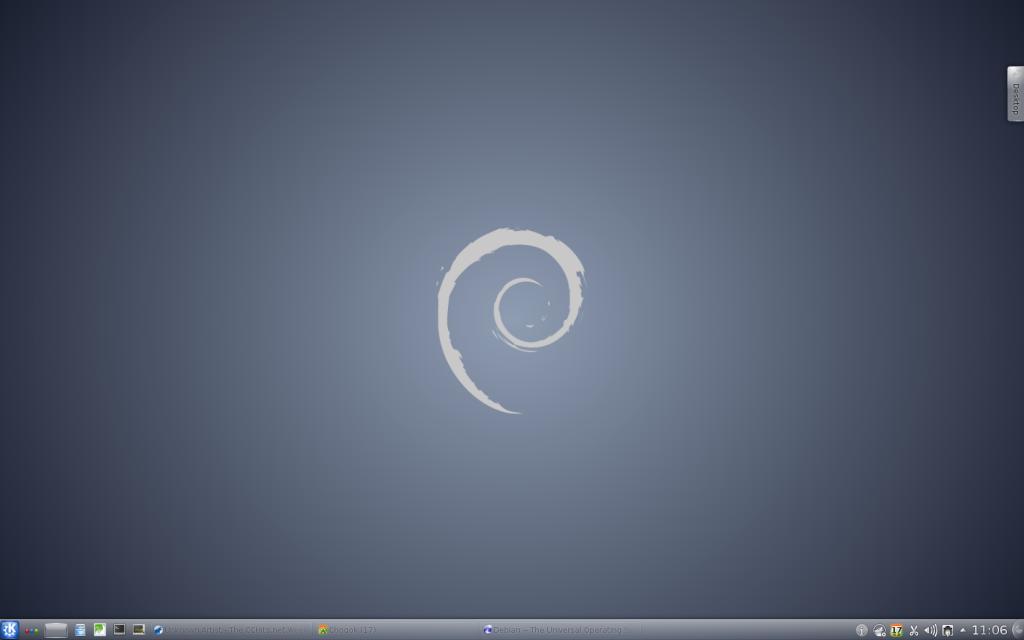 Debian Wheezy Beta 4 KDE desktop environment