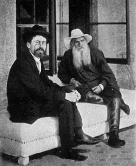 Leo Tolstoy and Anton Chekhov